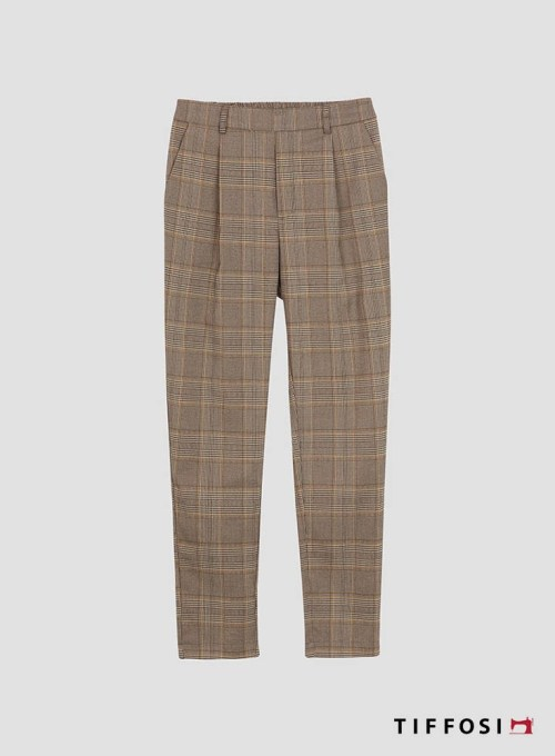 PANTALON TIFFOSI ARTIC CUADROS MARRON